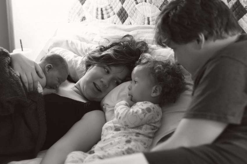 family after birth
